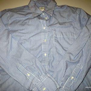 J Crew Shirt Button Down Career Boyfriend L/S M